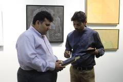 Runish Chheda And Dhiraj Hadole At Art Gate Gallery During chitradarshani Show
